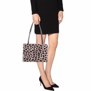 Kate Spade Vintage Giraffe Print Velour Handbag